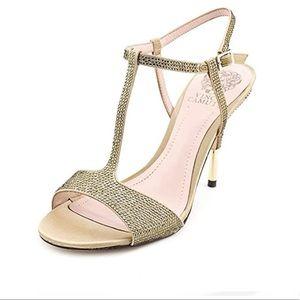 Vince Camuto | Rhinestone rose gold sandals
